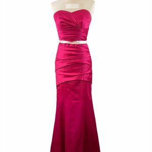IMPRESSION Pink Formal Dress with Removal Straps